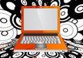 Free Orange Laptop Royalty Free Stock Images - 21131729
