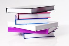 Free Six Education School Books On A White Table Royalty Free Stock Photos - 21130038