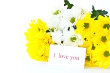 Free Beautiful Bouquet Of Yellow Chrysanthemums Stock Photography - 21130232