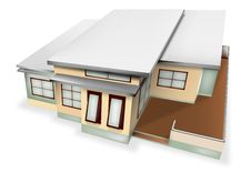 Free Single Plan Modern Home Royalty Free Stock Image - 21130326