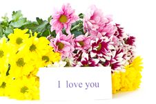 Free Beautiful Bouquet Of Yellow Chrysanthemums Stock Photos - 21130493