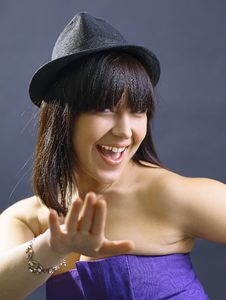 Free Portrait Of Beautiful Young Sexy Woman In Hat Stock Photos - 21130923