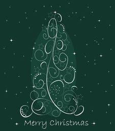 Free Abstract Christmas Tree Stock Image - 21131281