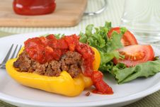Free Baked Stuffed Pepper Stock Photos - 21131613
