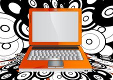 Free Orange Laptop Royalty Free Stock Images - 21131729