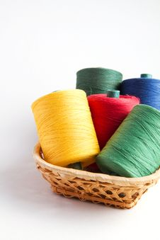 Free Five Coils Of Threads In Basket Stock Photos - 21132063