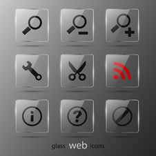 Free Set Of Web Icons Royalty Free Stock Image - 21132286