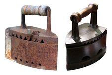 Free Two Retro Irons Royalty Free Stock Image - 21132596