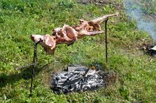 Free Lamb Barbecue Royalty Free Stock Photo - 21132695