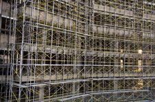 Free Close-up Shoot Scaffolding On Counstraction Side Stock Images - 21132794