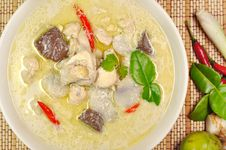 Chicken Coconut Milk Soup Royalty Free Stock Images