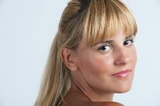 Beautiful Sensual Blond-haired Woman Stock Photo