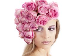 Free Young Beautiful Woman With Pink Flowers Royalty Free Stock Photo - 21134175