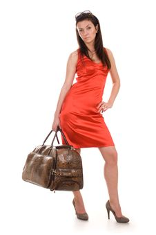 Free Beautiful Woman Going On Vacation Royalty Free Stock Photos - 21134648