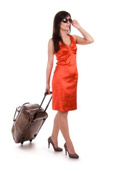Free Beautiful Woman Going On Vacation Stock Photos - 21134663