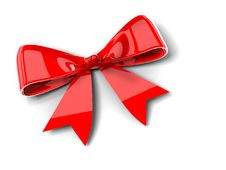 Free Red Bow Royalty Free Stock Images - 21134709