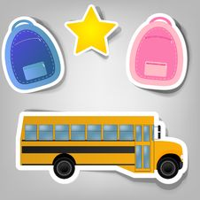Free Set Of Vector Stickers Stock Image - 21134711