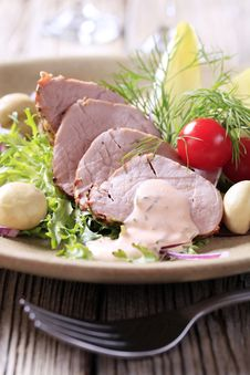 Roast Pork Tenderloin Royalty Free Stock Image