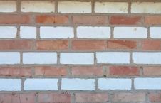 Free Old Striped Red And White Brick Wall Background Royalty Free Stock Images - 21135089