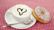 Free Donuts With Coffee On Table. Royalty Free Stock Image - 21135246
