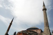 Free Aya Sofia Minarets Stock Photo - 21135830