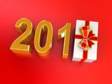 Free New Years Gift 2012 Stock Photo - 21136040