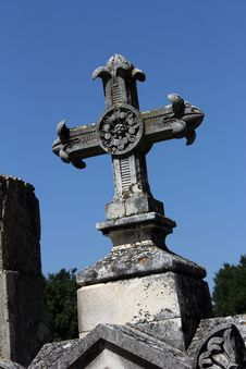 Free Tombstone Cross Stock Image - 21136331