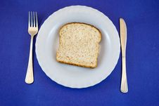 Free Plate With Black Bread Slice Royalty Free Stock Photos - 21138258