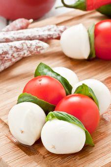 Free Mozzarella Skewers Stock Image - 21138501