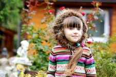 Free Outdoors Portrait Of Adorable Child Girl In Hood Stock Photos - 21139283