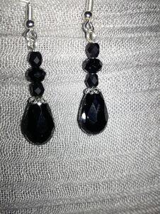 Free Black Pearl Earrings Stock Image - 211309481