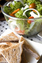 Free Green Salad With Wheat Toasts Royalty Free Stock Image - 21144056