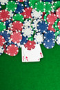 Free Two Aces And Poker Chips Stock Photography - 21144392