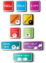 Free Color Creative Labels With Text Royalty Free Stock Images - 21145339