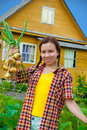 Free Girl With Harvested Onion Stock Photos - 21146533