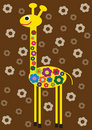 Free Funny Color Illustration Of Flower Giraffe Royalty Free Stock Image - 21148016