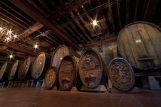 Free Historic Wine Barrels Royalty Free Stock Image - 21140686