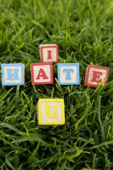 Free I Hate U Stock Photography - 21140752