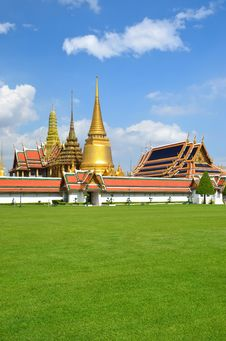 Grand Palace And Wat Phra Kaew,Bangkok,Thailan Royalty Free Stock Photos