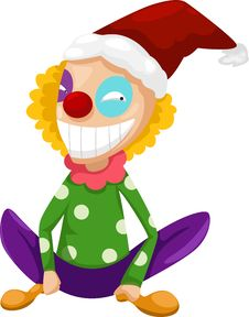 Free Clown Vector Royalty Free Stock Photography - 21141257