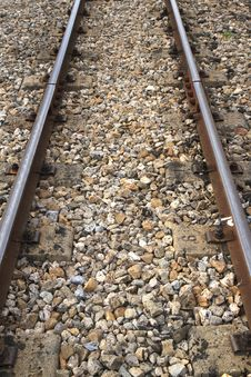 Free The Railway Track Royalty Free Stock Photo - 21141375