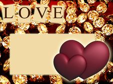 Free Hearts With Diamonds Stock Images - 21141464