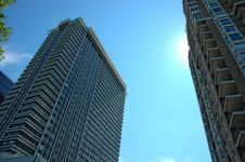 Buildings Under Blue Sky Royalty Free Stock Photography