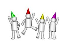 Free It Is Party Time Stock Photography - 21141512