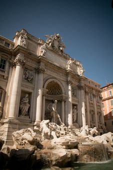 The Trevi Fountain Stock Photos