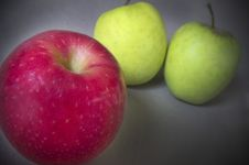 Free Two Green Apples One Red Stock Image - 21141721