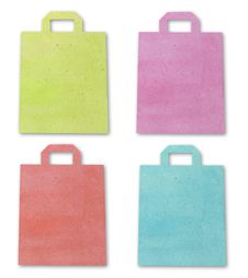 Free Shopping Bag Recycle Paper Craft Stick Royalty Free Stock Photos - 21141888