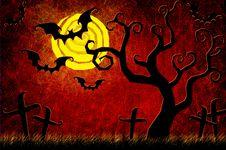 Free Grunge Textured Halloween Night Background Stock Images - 21141894