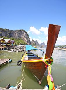 Free Longtail Boat  Phangnga Bay Stock Photography - 21141942