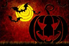 Free Grunge Textured Halloween Night Background Royalty Free Stock Photography - 21141947
